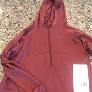 Lululemon swiftly tech hooded 1/2 zip sz10 NWT